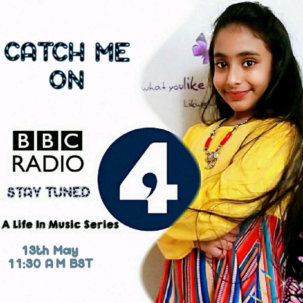 Live broadcast of Laasya Chigurupati on BBC Radio 4
